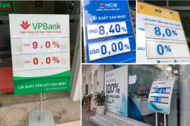 Lãi suất cao nhất tại ngân hàng đã lên đến 9%/năm