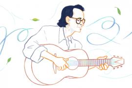 Nhạc sĩ Trịnh Công Sơn, người Việt Nam đầu tiên được Google Doodles tôn vinh