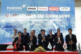 Phú Đông Group ký kết hợp tác với 15 doanh nghiệp hàng đầu và giới thiệu căn hộ mẫu concept mới