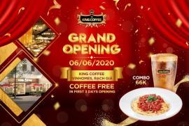 Chào đón không gian mới King Coffee Premium - Vincom Rạch Giá với trải nghiệm Free Coffee 3 ngày đầu khai trương