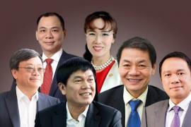 Khối tài sản 'khủng' của 6 tỷ phú giàu nhất Việt Nam