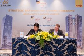 Tập đoàn phát triển bất động sản Alpha King ký kết đối tác chiến lược với Savills VietNam