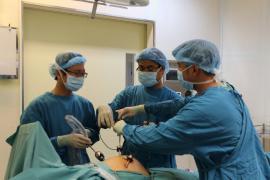 Bệnh viện Hoàn Mỹ Sài Gòn thực hiện thành công ca phẫu thuật nội soi cho thai phụ mang thai 33 tuần