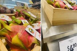 Thanh long Việt được bán với giá hơn 80.000 đồng/trái tại Australia