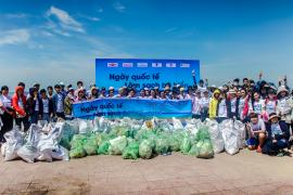 Gần 350 kg rác đã được thu gom tại Bờ biển Vũng Tàu trong Ngày Quốc Tế Làm Sạch Bờ biển năm 2018