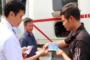 Xét nghiệm HIV lưu động cho lái xe và người biến động qua biên giới