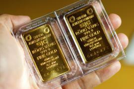 Giá vàng trong nước tiếp tục tăng mạnh