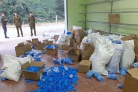 Thái Nguyên: Bắt giữ 8 tấn găng tay y tế đã qua sử dụng